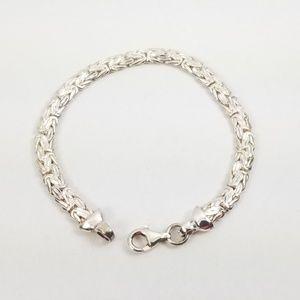 """Sterling 8"""" Reversible Byzantine Bracelet 17.4g"""